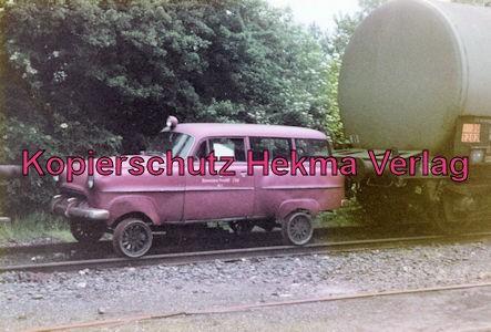 Buxtehude-Harsefeld - Bahnhof Harsefeld-Süd - Opel Record für die Streckenkontrolle