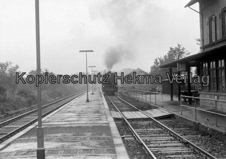 Godramstein/Pfalz Eisenbahn - Bahnhof Godramstein - Lok 023 055-7