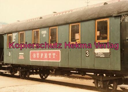 Tälestalbahn Nürtingen-Neuffen- Sofazügle - Bahnhof Neuffen - Büffetwagen 3. Klasse