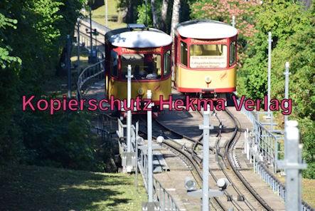 Turmbergbahn Karlsruhe - Wagen 1 und 2 auf der Strecke