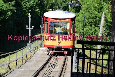 Turmbergbahn Karlsruhe - Wagen 2 auf der Strecke