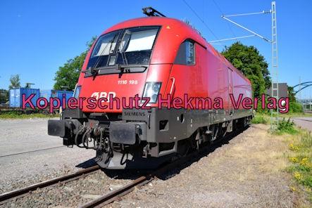 Wörth Eisenbahn - Wörth Alte Bahnmeisterei - Nebengleis - Lok ÖBB 1116 198
