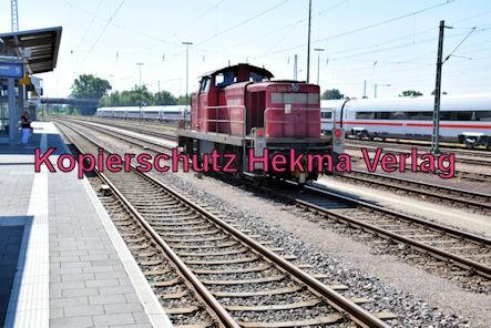 Wörth Eisenbahn - Bahnhof Wörth - Diesellok 294 588-9 und ICE 4 Nr. 0812 030-6