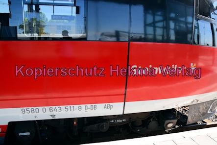 Wörth Eisenbahn - Bahnhof Wörth - RB 50 Steinweiler Nr. 643 511