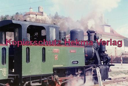Jagsttalbahn - Sonderfahrt Möckmühl-Dörzbach - Bahnhof Krautheim - Seidensticker Lok