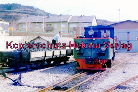 Jagsttalbahn - Sonderfahrt Möckmühl-Dörzbach - Bahnhof Dörzbach - Seidensticker Lok - Kohle fassen