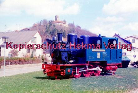Jagsttalbahn - Sonderfahrt Möckmühl-Dörzbach - Bahnhof Krautheim - Denkmallok Kunigunde von Krautheim