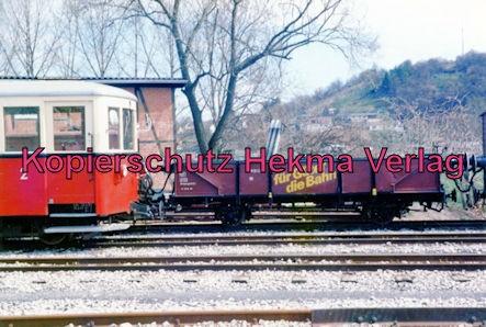 Jagsttalbahn - Sonderfahrt Möckmühl-Dörzbach - Bahnhof Möckmühl - Triebwagen und Güterwagen