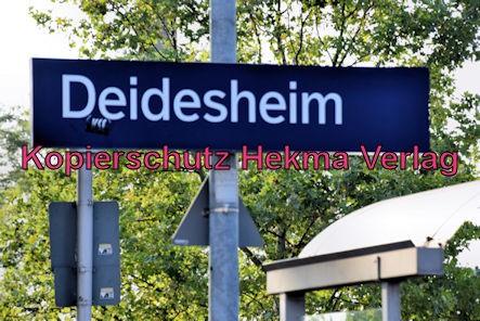 Deidesheim Eisenbahn - Deidesheim Bahnhof - Bahnhofsschild