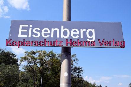 Eisenberg Eisenbahn - Eisenberg Bahnhof - Bahnhofsschild