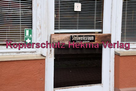 Enkenbach-Alsenborn Eisenbahn - Bahnhof Enkenbach-Alsenborn - Bahnhofsgebäude - Stellwerksraum