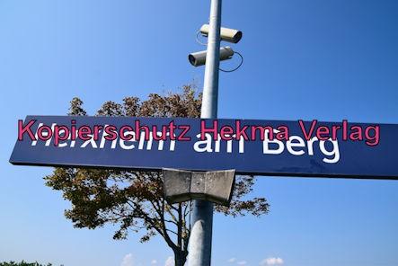 Herxheim am Berg Eisenbahn - Bahnhaltepunkt Herxheim am Berg - Haltepunktschild