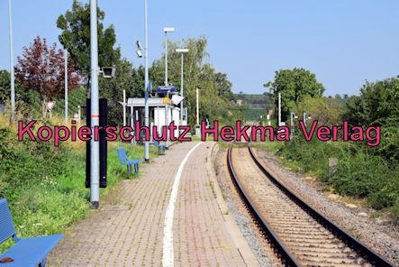 Herxheim am Berg Eisenbahn - Bahnhaltepunkt Herxheim am Berg - Bahnsteig