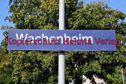 Wachenheim Pfalz Eisenbahn - Bahnhof Wachenheim - Bahnhofsschild