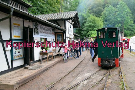 Stumpfwaldbahn Eiswoog Pfalz Eisenbahn - Bahnhof Eiswoog - Bahnhofsgebäude mit dem Lokschuppen