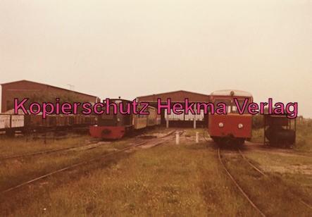 Langeoog Inselbahn - Lokomotive und Wagenhalle