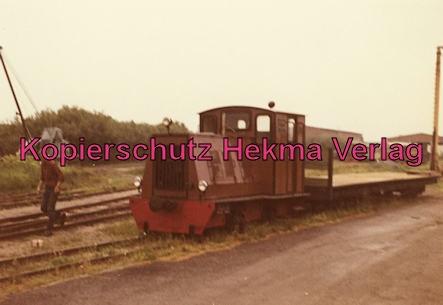 Langeoog Inselbahn - Diesellok mit offenem Güterwagen