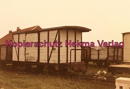 Langeoog Inselbahn - Güterwagen