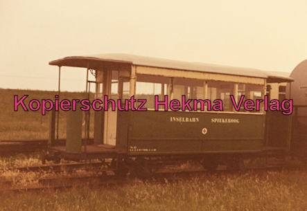 Spieckeroog Inselbahn - Personenwagen