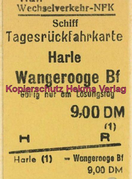 Wangerooge Inselbahn - Fahrkarte