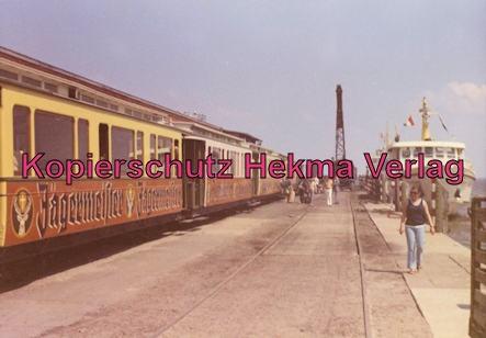 Borkum Inselbahn - Zug am Hafen