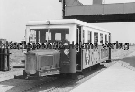 Borkum Inselbahn - Wismarer Schienenbus T1 - Schweineschnäuzchen