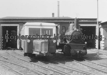 Borkum Inselbahn - Lokomotiven und Wagenhalle