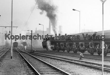 Landsweiler-Reden - Bahn der Saarbergbau AG in der Kokerei Landsweiler-Reden - Zug