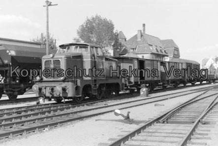 Schleswig - Eisenbahn - Verkehrsbetriebe des Kreises Schleswig - Bahnhof Schleswig - Letzte Fahrzeuge