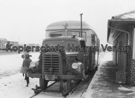 Sylt Inselbahn - Borgward-Sattelschleppertriebwagen - Letzte Fahrt