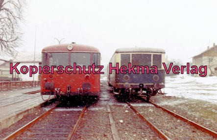 Privatbahn Lam-Kötzting - Bahnhof Kötzting - LKEB und DB Schienenbusse