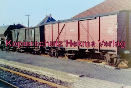 Merzig-Büschfelder Eisenbahn - Bahnhof Losheim - Güterwagen