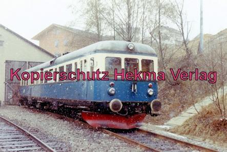 Regentalbahn AG - Viechtach-Blaibach-Gotteszell - Bahnhof Viechtach - Triebwagen vor dem Lokschuppen