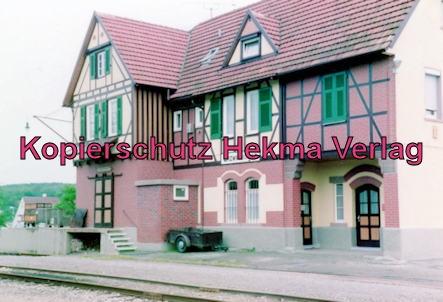Württembergische Eisenbahngesellschaft Stuttgart - Bahnhof Enzwaihingen - Bahnhofsgebäude