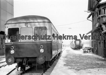 Württembergische Eisenbahngesellschaft Stuttgart - Nürtingen-Neuffen - Bahnhof Neuffen - Schienenbus