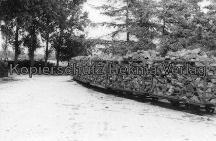 Bederkesa - Torfwerk Süderleda bei Bederkesa - Betriebsbahnhof - Torfzug