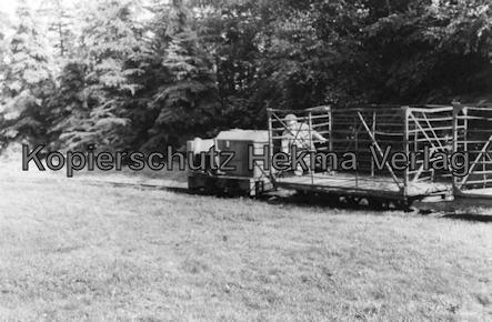 Bederkesa - Torfwerk Süderleda bei Bederkesa - Betriebsbahnhof - Diesellok mit Wagen