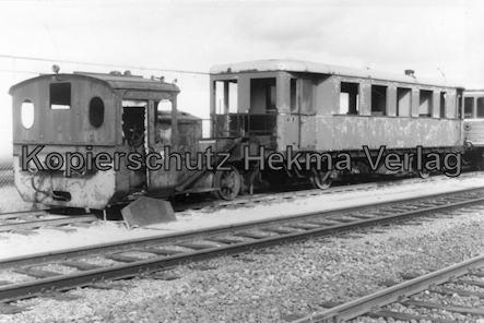 Bremervörde - Osterholzer Eisenbahn - Abstellgleis - Lok BOE 205 und Personenwagen