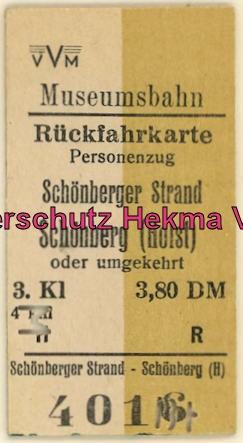 Schönberger Strand - Schönberg - Fahrkarte