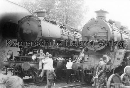 Darmstadt-Kranichstein - Eisenbahnmuseum Dampflokfest - Lok 44 404 und 56 3007