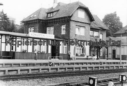 Sonderzug nach Königstein i. T. - Bahnhof Königstein - Bahnhofsgebäude