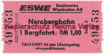 Nerobergbahn - Wiesbaden - Fahrkarte