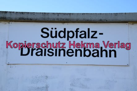 Südpfalz Draisinenbahn - Bornheim-Westheim - Bahnhof Bornheim (Start)