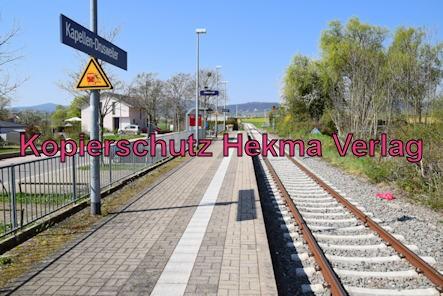 Kapellen-Drusweiler (Pfalz) Eisenbahn - Bahnhaltepunkt Kapellen-Drusweiler - Bahnsteig