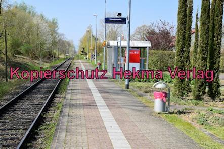 Kapsweyer (Pfalz) Eisenbahn - Bahnhaltepunkt Kapsweyer - Bahnsteig