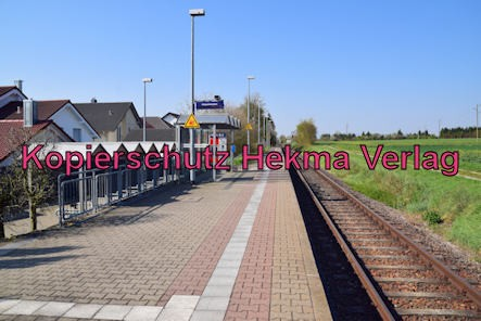 Schaidt (Pfalz) Eisenbahn - Bahnhof - Bahnhaltepunkt Schaidt