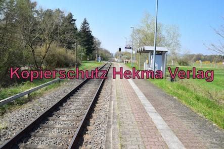 Schweighofen (Pfalz) Eisenbahn - Bahnhaltepunkt Schweighofen - Bahnsteig