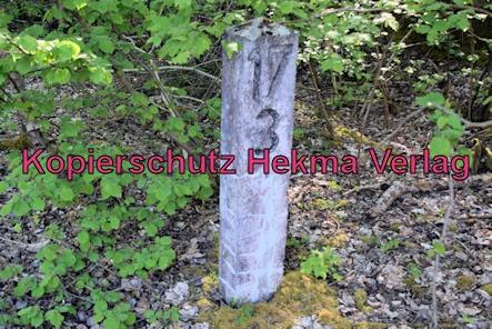 Landau-Germersheim - Untere Queichtalbahn - Bahnhof Hochstadt - Stein Kilometer 17/3