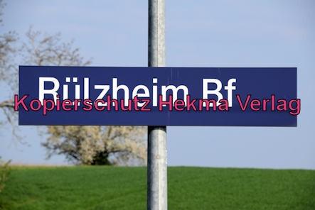 Eisenbahn Rülzheim - Bahnhof Rülzheim - Bahnhofsschild