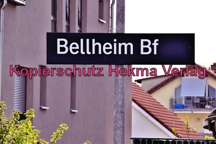 Eisenbahn Bellheim - Bahnhof Bellheim - Bahnhofsschild
